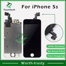 50 шт. Отличная упаковка черная/белая сменная панель для Pantalla iPhone 5S ЖК-дисплей с сенсорным экраном дигитайзер+ фронтальная камера DHL