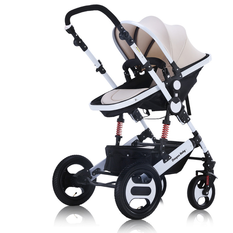 цена на Free shipping to Russia Luxury baby stroller Can sit and sleep Baby stroller 3 in 1 car for newborns free shipping