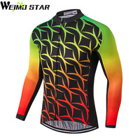 WEIMOSTAR PRO 2017 Team Ropa Ciclismo Men S Long Sleeve Bike Clothes Outdoor Tops Bicycle Cycle