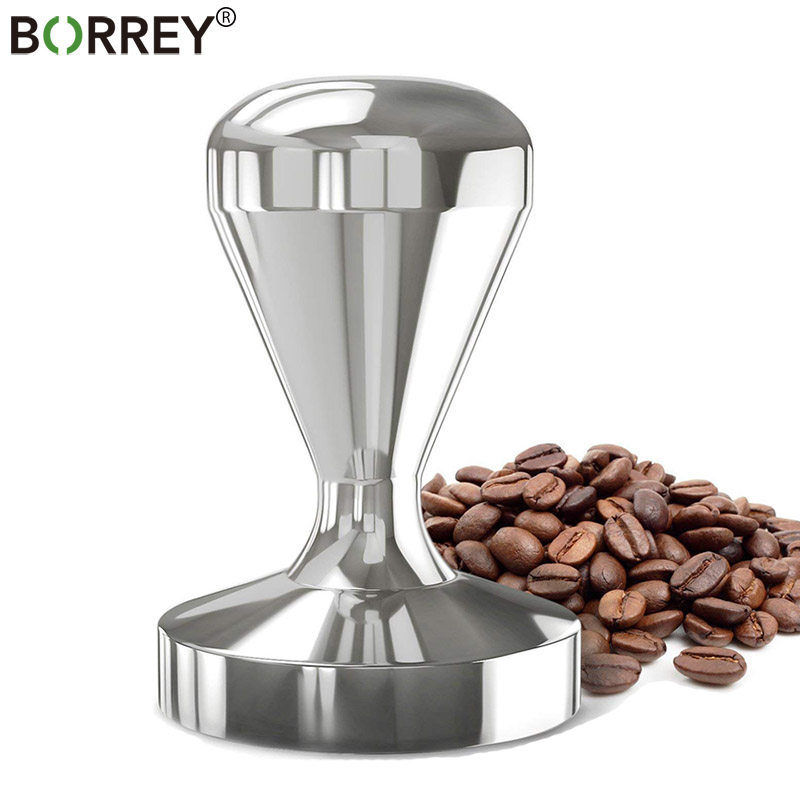 BORREY Espresso Coffee Tampers 58mm 57.5mm 51mm 49mm Stainless Steel Coffee Tamper  Manual Press Flat Coffee Machine Accessories