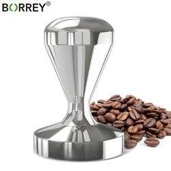 BORREY Espresso ubijak do kawy s 58mm 57.5mm 51mm 49mm ze stali nierdzewnej ubijak do kawy prasa ręczna płaskie akcesoria do maszyn do kawy w Ubijaki do kawy od Dom i ogród na