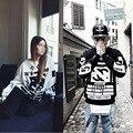 European Style COCO N5 Hip-Hop style Eiffel tower long sleeve Tide Brand Lovers Fashion Sweatshirts