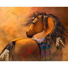 5D diy diamond painting horse full square embroidery mosaic cross stitch needleworks H743