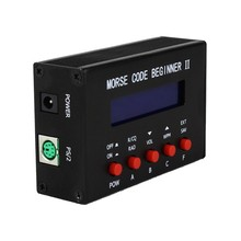 جديد 1 قطعة مورس رمز المدرب LCD التلغراف موجة قصيرة محطة راديو CW السيارات مفتاح ناقل موجات الراديو