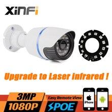 Xinfi Новые HD 3mp 1080 P видеонаблюдения ip-камера 3mp POE камеры H.265 Cam ночного видения Открытый Водонепроницаемый сетевая камера onvif удаленного просмотра