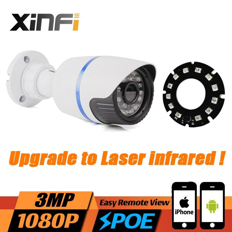 Xinfi Новые HD 3mp 1080 P видеонаблюдения ip-камера 3mp POE камеры H.265 Cam ночного видения Открытый Водонепроницаемый сетевая камера onvif удаленного просм...