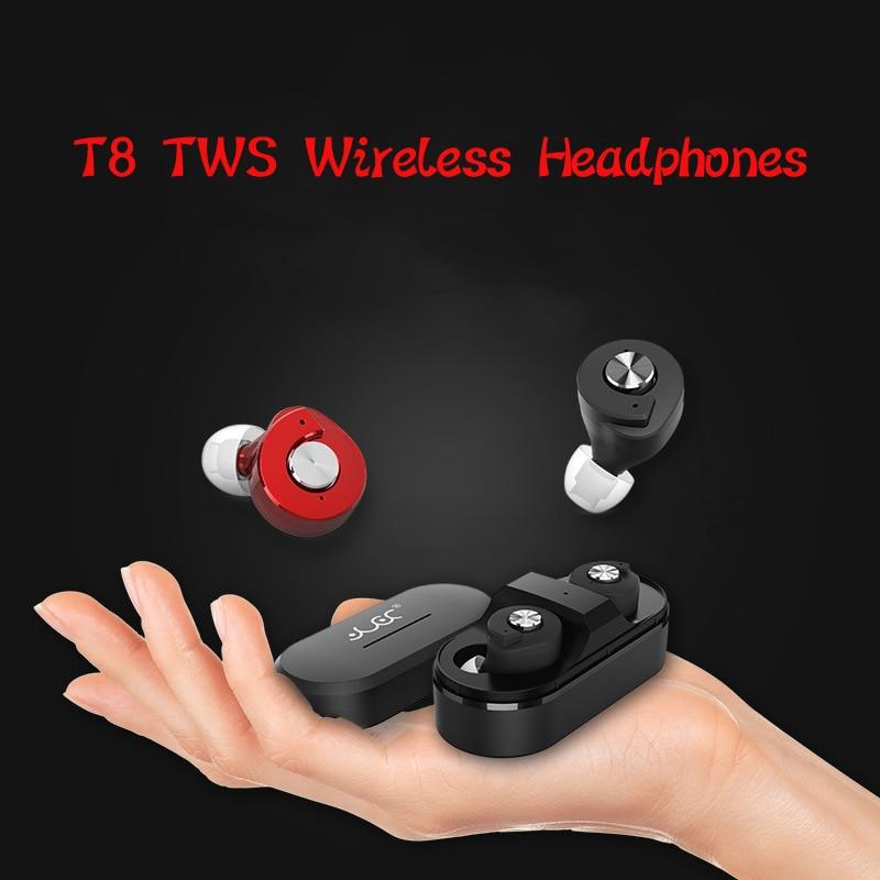ФОТО Mini Wireless TWS Headphones T8 Bluetooth Earphones Stereo Headset Auriculares Bluetooth Dual Ear For Laptop Iphone xiaomi HTC