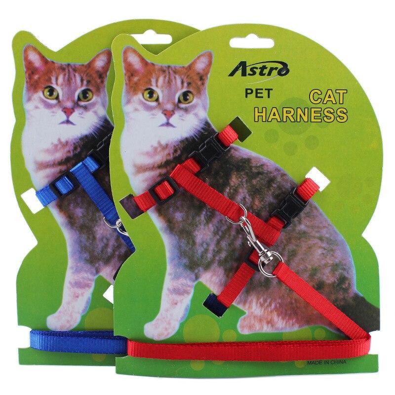 ②Lindo perro gato arnés y correa 2 colores nylon productos para ...