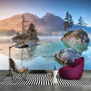 Landscape art TV background wall professional production mural factory wholesale wallpaper mural poster photo wall hand painted color oil painting background wall professional production mural factory wholesale wallpaper poster photo wall