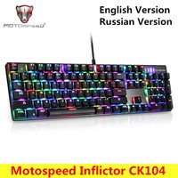 Motospeed CK104 Inflictor NKRO Gaming Mechanical Keyboard Backlit Wired Keyboard With Backlight RGB Anti Ghosting For