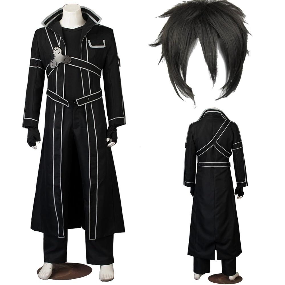 Anime Sword Art Online Cosplay Kirito Kazuto Kirigaya Cosplay Costume High Quality Any Size Outfit Custom Made