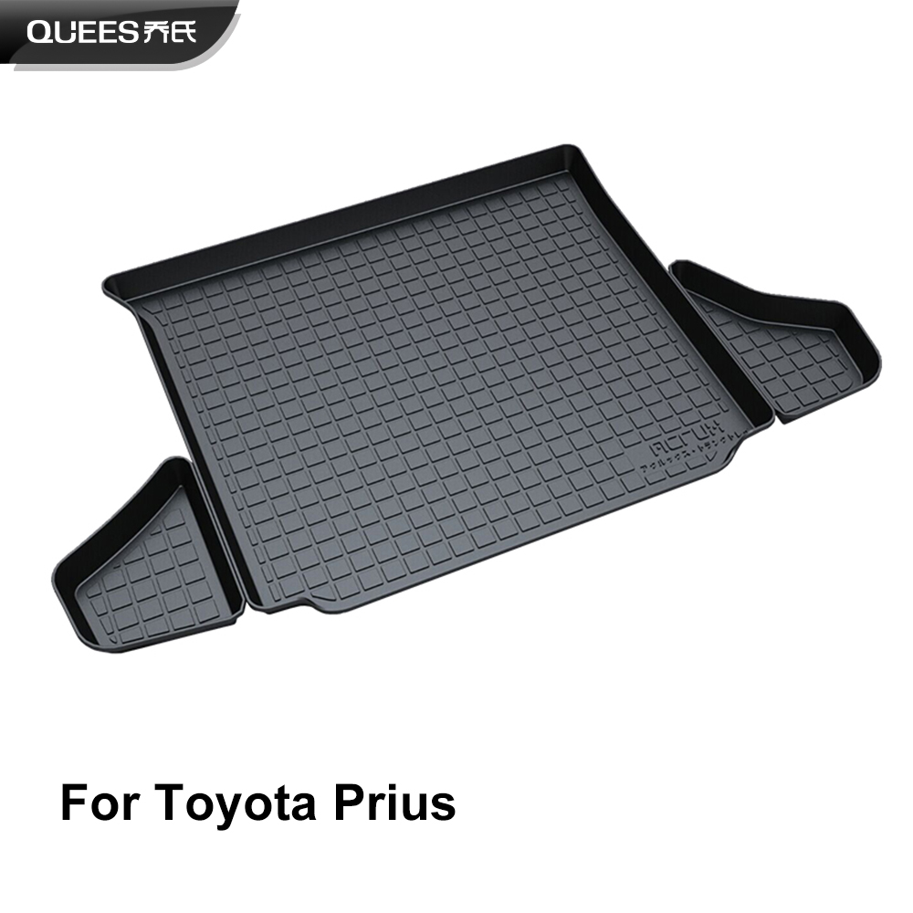 QUEES Custom Fit Cargo Liner Trunk Floor Mat for Toyota Prius XW30 XW50 2009 2010 2011