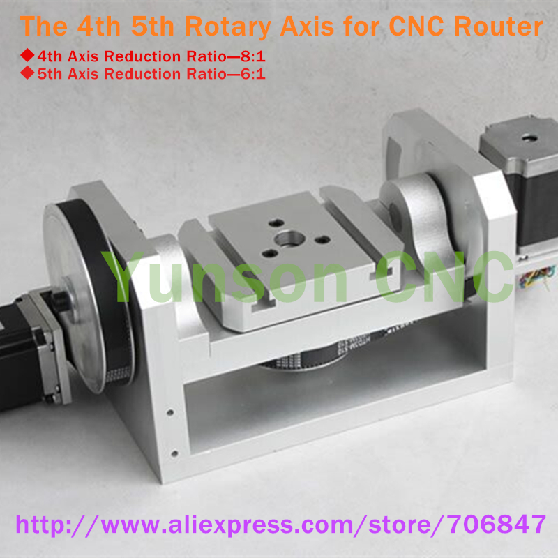 Buy cnc 5th axis rotary axis with nema23 for Best router motor for cnc