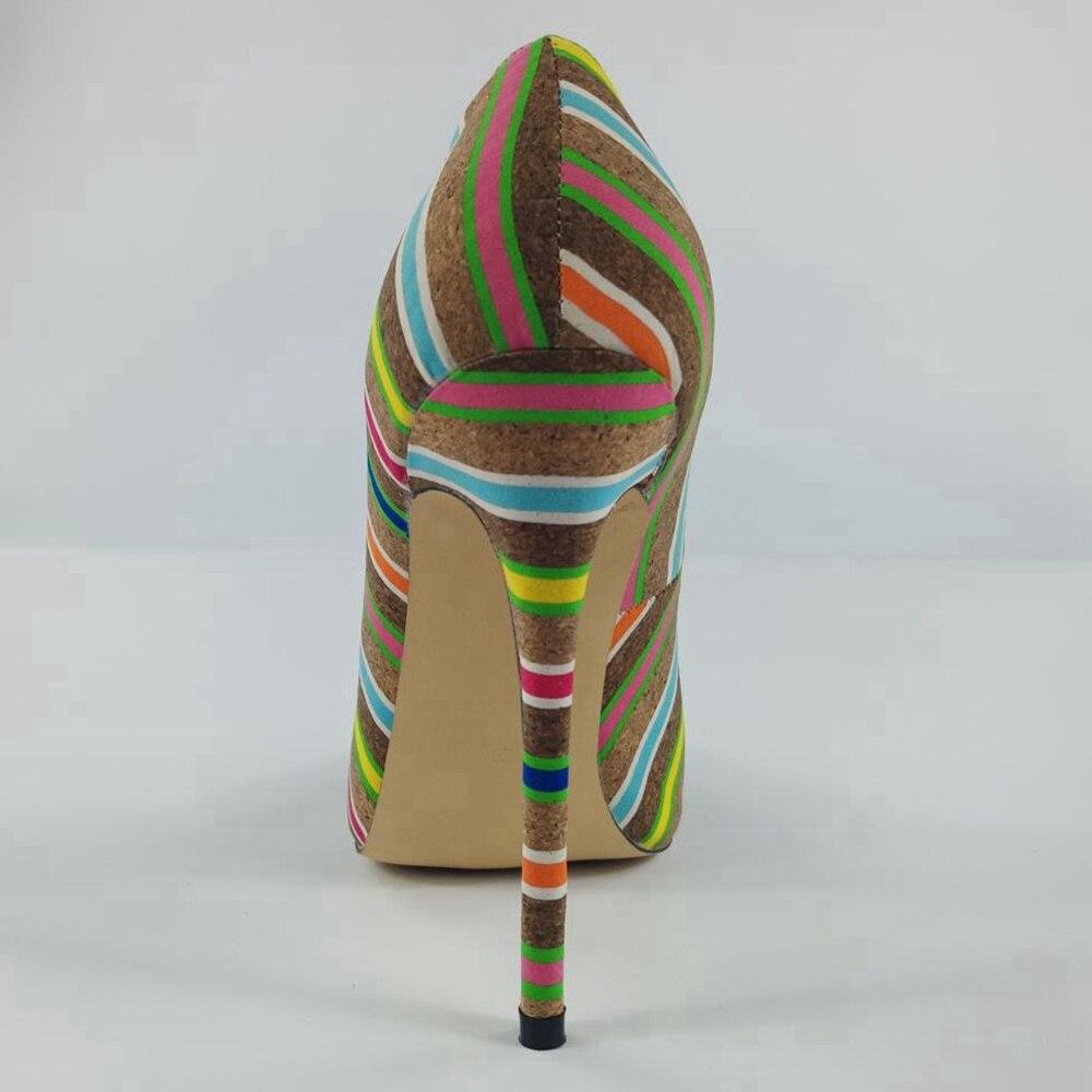 Spitz Schuhe Katze Heels Weibliche Pumps Sexy Hohe High Qualität Damen Flach Mujer A1548 Ethnische Mode Multicolor Frauen Reave Awdq0A