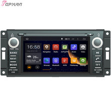 "Topnavi 6.2"" Quad Core Android 6.0 Car DVD Play for COMMANDER/WRANGLER Autoradio GPS Navigation Audio Stereo"
