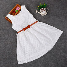 4 color Free shipping Fashion Baby Girls Clothing Cotton Crochet Floral Lace Loose Mini Dress Summer