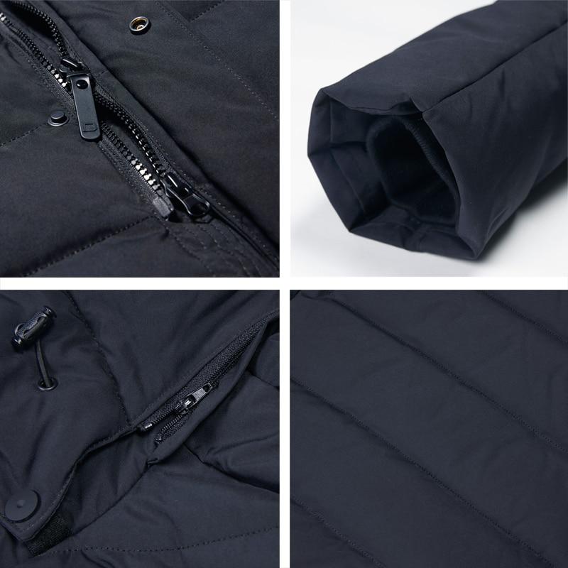 ICEbear 2019 nouvelle veste d'hiver pour hommes avec chapeau détachable en tissu de haute qualité pour manteau chaud pour hommes manteau simple pour hommes MWD18945D - 5