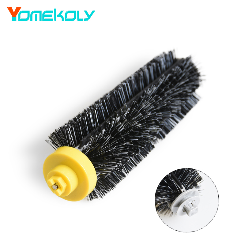 Black Hair Bristle Brush for iRobot Roomba 600 700 Series 650 610 620 630 660 760 770 780 790 Vacuum Cleaner Parts Replacement 1 pcs red circular brush cleaning tool for irobot roomba 500 600 700 800 series 760 770 780 790 610 620 650 630 660 655 530