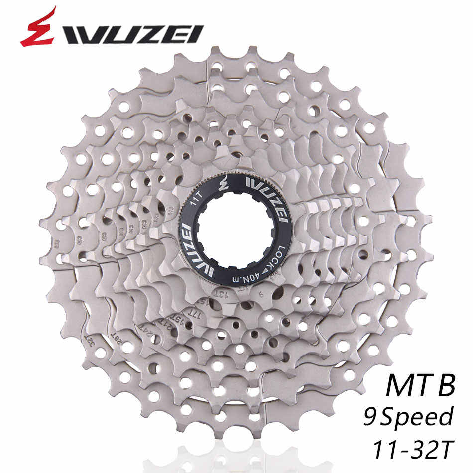 WUZEI 9S 11-32T Free Wheels MTB Bicycle Flywheel 9 Speed Cassette flywheel 11-32T Compatible for Parts M370 M390 M3000 M4000
