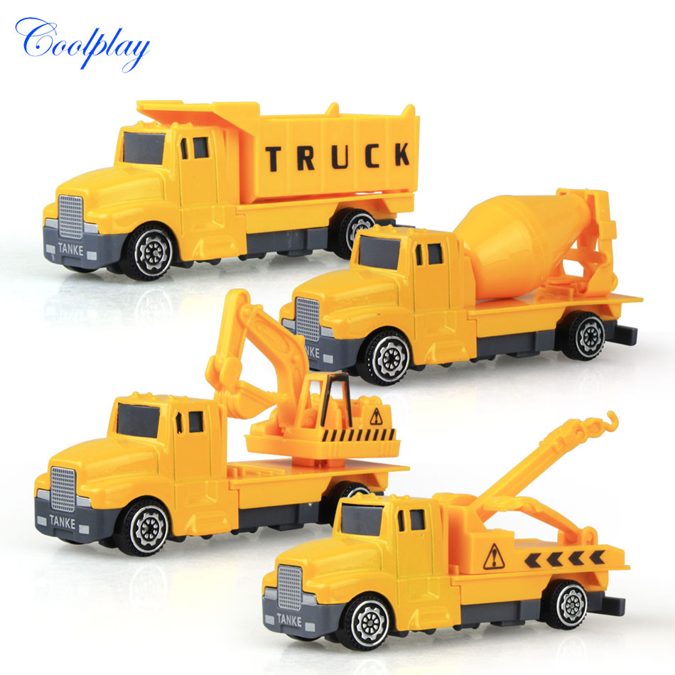 Best Construction Toys And Trucks For Kids : Coolplay pcs mini metal kids construction vehicle alloy