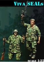 Scale Models 1 35 Vietnam War Viva SEALs USMC soldier figure Historical WWII Resin Model Free