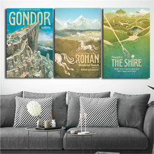 Lord Of The Rings Travel To Middle Earth Canvas Posters Prints Wall Art Painting Decorative Picture Modern Home Decor Framework
