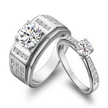 Протестировано подлинное его и ее Moissanite парные кольца Твердые 18 к белое золото тонкой алмазной пары кольцо для влюбленных обручальные ювелирные изделия