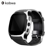 2017 T8 Deporte Usable Dispositivos Bluetooth Reloj Inteligente Con Cámara de Sincronización de Llamadas Apoyo SIM & TF Hombres de Las Mujeres Reloj de pulsera Teléfono Android
