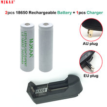 2pcs 18650 Battery 3.7V 3400mah Rechargeable Li-ion Battery + one charger for Led Flashlight Battery 18650 стоимость