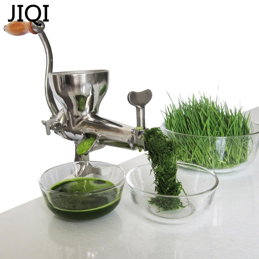 JIQI Stainless Steel Hand wheatgrass Juicer manual Auger Slow squeezer Fruit Wheatgrass Vegetable orange juice extractor
