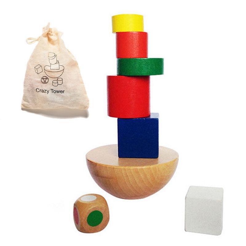 1 Satz Holzspielzeug Mit Kleinen Größe Kind Blöcke Familie Spiel Kind Geschenk Tasche Baby Spielzeug Geometrische Blöcke Ausgleich Spiel Mild And Mellow