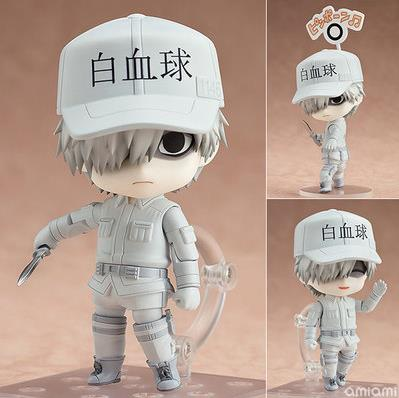 10cm Cells At Work! Cells At Work White Blood Cell WBC Leukocyte Action Figure Toys Doll Christmas Gift With Box