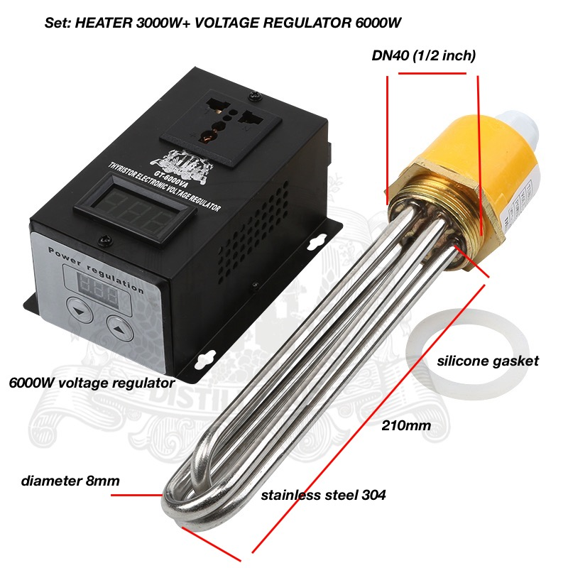 SET: 3.0 KW-6.0kW,  220V,  DN40. Voltage Regulator And  Heater For Tank, Electric Water Heater, Heater Element