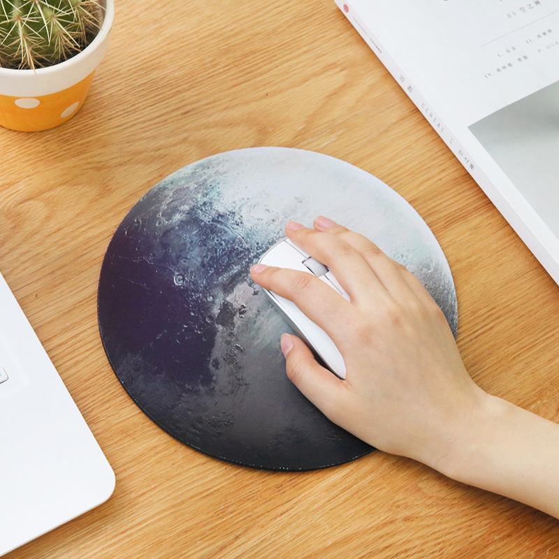 Planet Series Mat 220 X 220 X 3mm Circular Mouse Pad With
