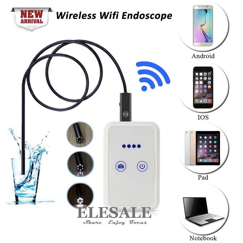 ФОТО New Wireless Wifi Android iOS Endoscope Camera HD 720P Waterproof Borescope 9mm Mini Camera Drop Shipping