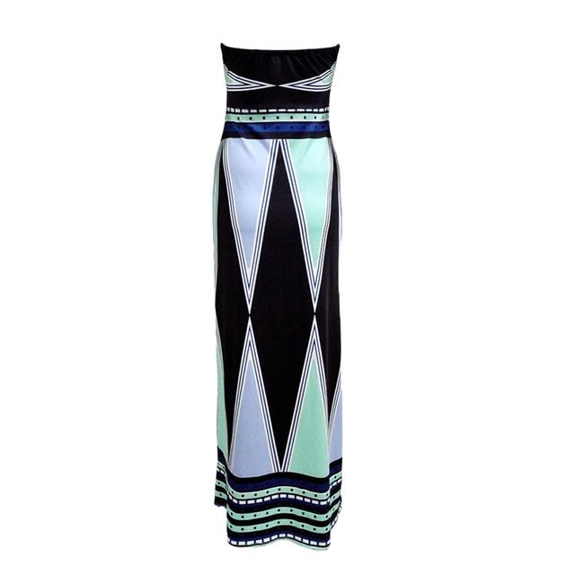 Backless Strapless Maxi Dress