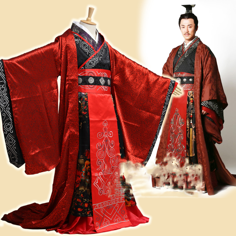 2014 TV Play Great Han Empress Weizifu Male Emperor Costume Linfeng Emperor's Clothes Traditional Chinese Han Dynasty Hanfu