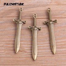 Knife Charms Weapon Marking Jewelry Simulation-Pendant Metal-Alloy 15--58mm 4PCS New-Product