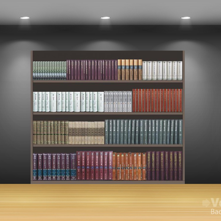 Personalized Vintage home decor creative bookshelves wall stickers decorative adesivos para parede wall book shelf CWBOOK02