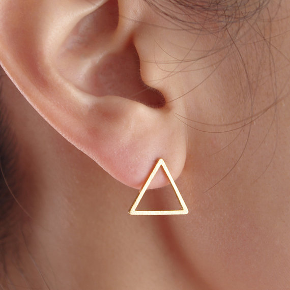 Shuangshuo Hollow Triangle Studs Earrings For Womens Fashion 2017 Vintage Geometric Wedding Jewelry In Stud From