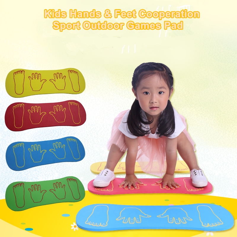 1pcs EVA Foam Mat Kids Indoor Outdoor Games Fun Sport Toys Jumping Toy Portable Game Pad Children Hands Feet Cooperation 58*25cm