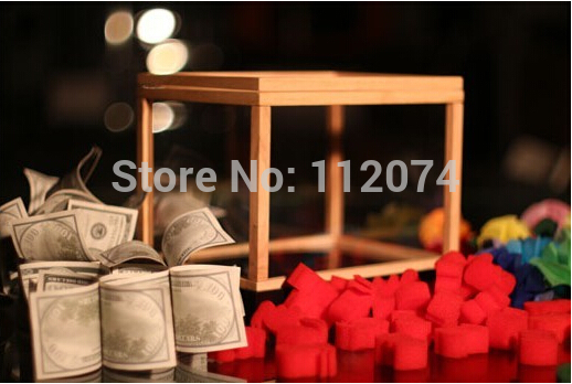 Illusion Money Box Dream Box (Money From Empty Box) Magic Tricks Magician Stage Gimmick Props Mentalism Comedy Appearing Magia vanishing radio stereo stage magic tricks mentalism classic magic professional magician gimmick accessories comedy illusions
