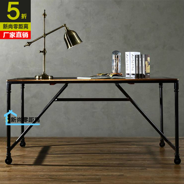 Incroyable American Country Retro Wood Desk Ikea Computer Desk Home Office Desk Study Table  Movable Tables