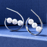 Pearl Beads 925 Silver Jewelry Pearl Earring Restoring Ancient Ways For Women Allergy Ladies Boutique Gift