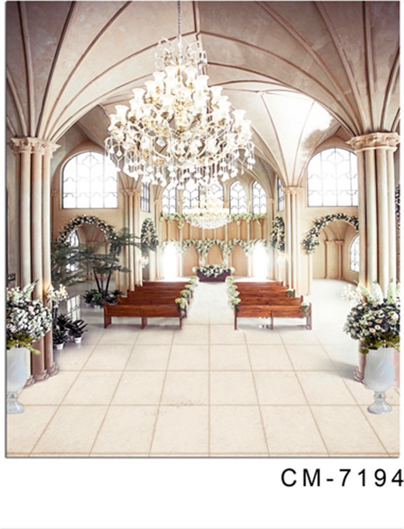 Bright Indoor Wedding Photography Backdrop Temple Church Scenic ...