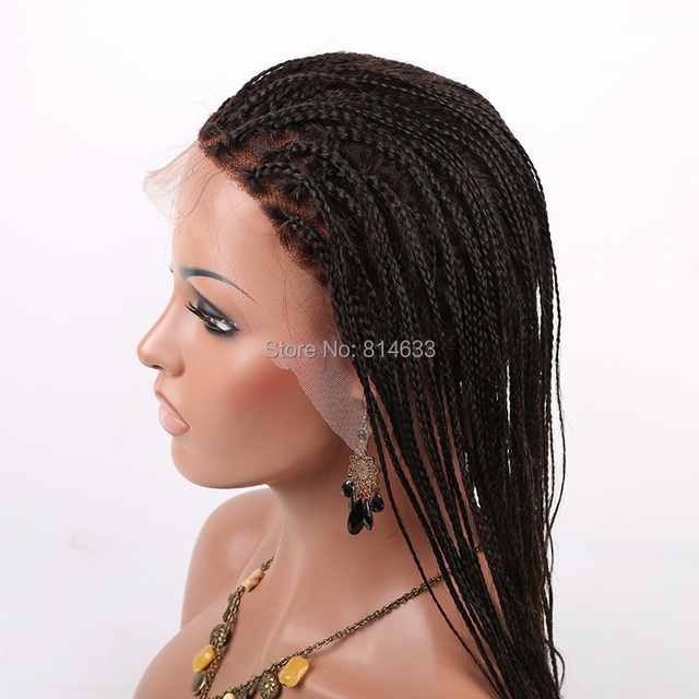 Black Women Cornrow Braid Wig Glueless Lace Front Wigs 1b Natural
