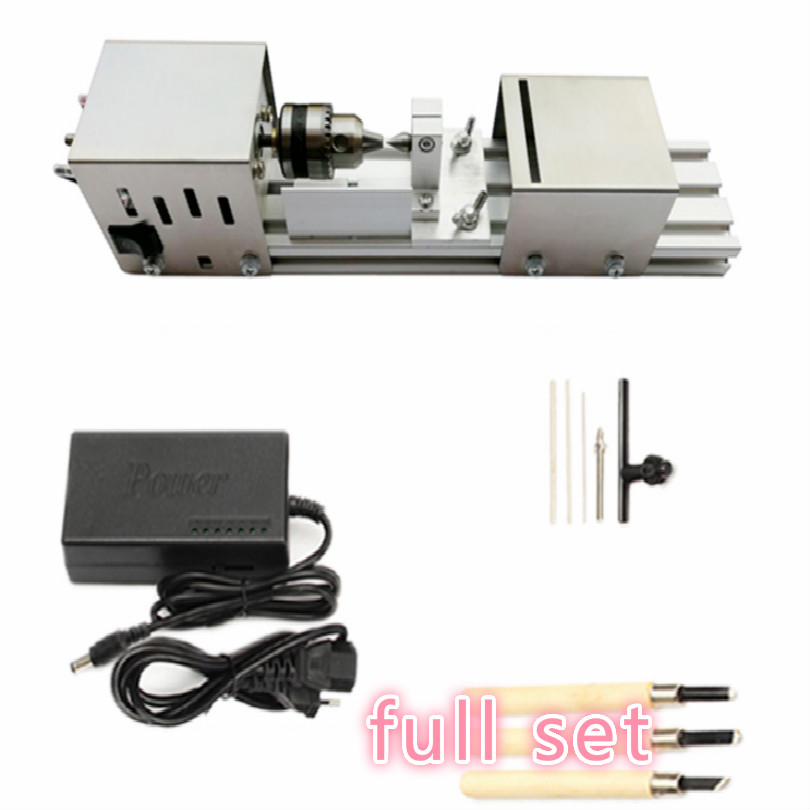 220V 100W 12 24VDC mini lathe machine mini torno de metal mini torna makinesi wood lathe tool wood machine making or carving