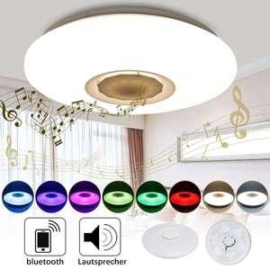 Image 4 - 48Wโคมไฟเพดานหรี่แสงได้ลำโพงบลูทูธเพลงลงAPPการควบคุมระยะไกลและเสียงหลายสีAC110 260Vในร่มห้องนอน
