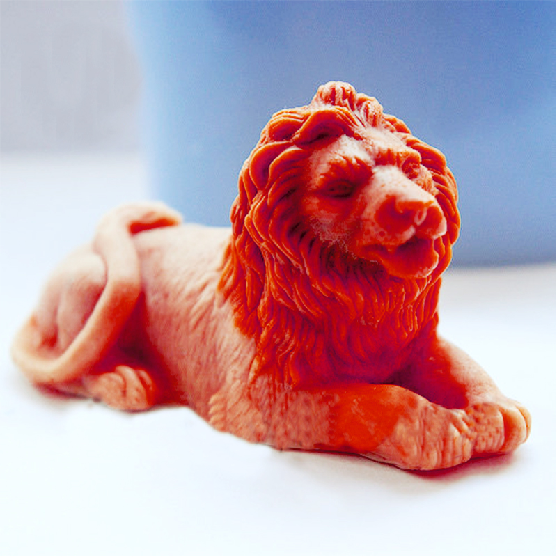 Silica Gel Animals Mold Lion 3D Soap Mould Silicone Molds Mold For Soap Lion Molds Handemade Diy Soaps Mould  Aroma Stone Moulds