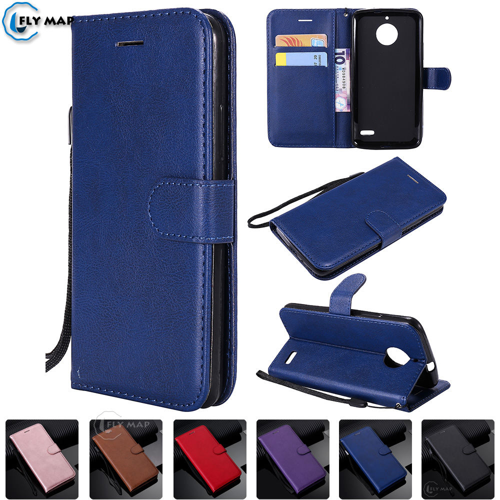 Wallet <font><b>Case</b></font> For Motorola <font><b>Moto</b></font> <font><b>E4</b></font> E Gen 4 <font><b>XT1761</b></font> XT1762 XT1767 Flip Phone PU Leather Cover Box For Motorola <font><b>Moto</b></font> E 4th Gen Bag image